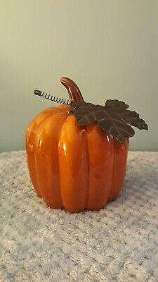 """Ceramic & Metal 7"""" Pumpkin"""