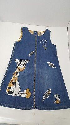 I love next denim toddler giraffe  dress Size  2-3 Yrs - Next Giraffe Dress