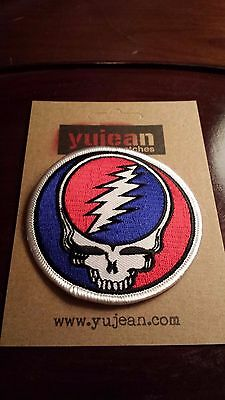 "Grateful Dead Steal Your Face 3"" Patch   Yujean  NEW"