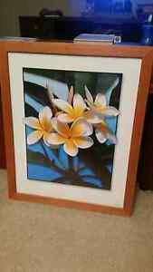 Frangipani picture with timber frame Wattle Grove Liverpool Area Preview