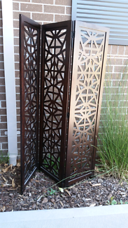 Wooden chocolate room divider
