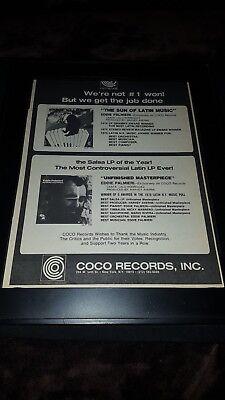 Eddie Palmieri Rare Original Coco Records Promo Poster Ad Framed!