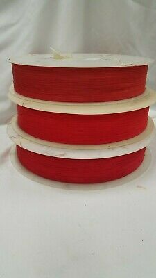 28 Gauge Ul1423 Kynar Wire Wrap Hookup Red 1700ft. Free Shipping