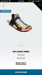"""Adidas Human Race NMD """"Solar Pack Red"""" Size 8.5"""