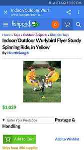 WTB Indoor/Outdoor Wurlybird Flyer Sturdy Spinning Ride Ipswich Ipswich City Preview