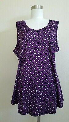 Pink Cheetah Print (NWT LuLaRoe Tank Top cheetah Paw Print Purple Pink Black in size M or)