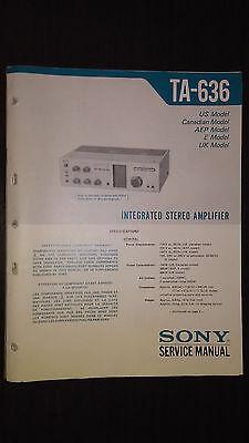 Sony Service Manual~TA-AX310 Amplifier//AMP~Original~Repair