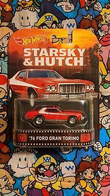 Hot Wheels Retro Entertainment Starsky & Hutch '76 Ford Gran Torino Free ship