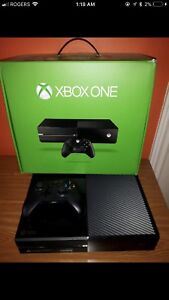 Xbox one 500gb with chat headset and one controller