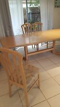 Extending table and six chairs Cooloola Cove Gympie Area Preview