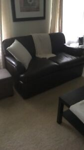 Leather couches (2)