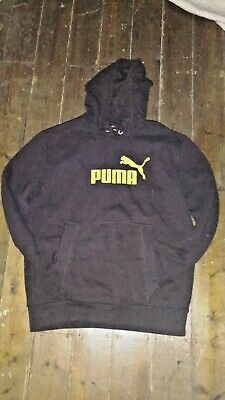 Mens Puma hoodie jumper brown colour size M