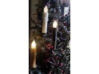 Blackened CORDLESS Tree Lights Hand Poured Judy Condon Box10 Timer//Remote NR