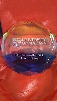 Paperweight UM University Malaya  ISC international student center with box