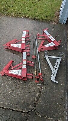 Qual-craft Steel Pump Jack Systems 500-lb. Capacity Lot Of 3 Parts In Ct