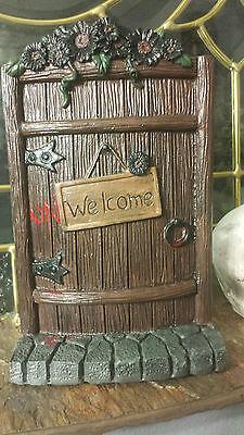Earth Fairy Halloween (Fairy door, mouse door, Unwelcome Halloween decoration, doorway to middle)