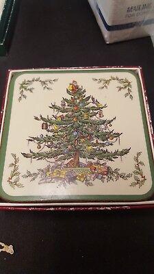 Spode Coasters (Spode Christmas Tree Coasters set of)