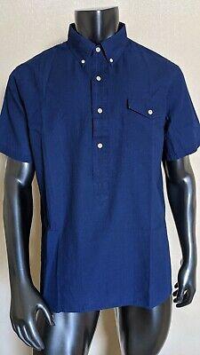 Ralph Lauren Indigo Chambray Shirt Men Sz XL Lightweight Cotton Blue $125 NWT