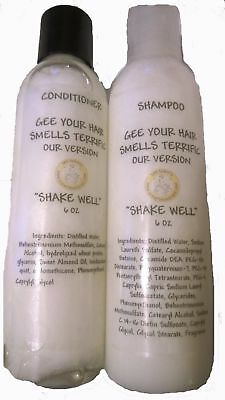 Shampoo & Conditioner 6 oz Scented Designer type scents U pick scent