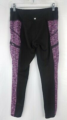 Z By Zobha Leggings Womens Size Medium Workout Yoga Running Pants Purple Stripe