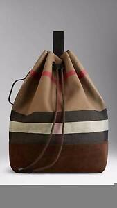 Burberry single strap canvas check backpack Lidcombe Auburn Area Preview