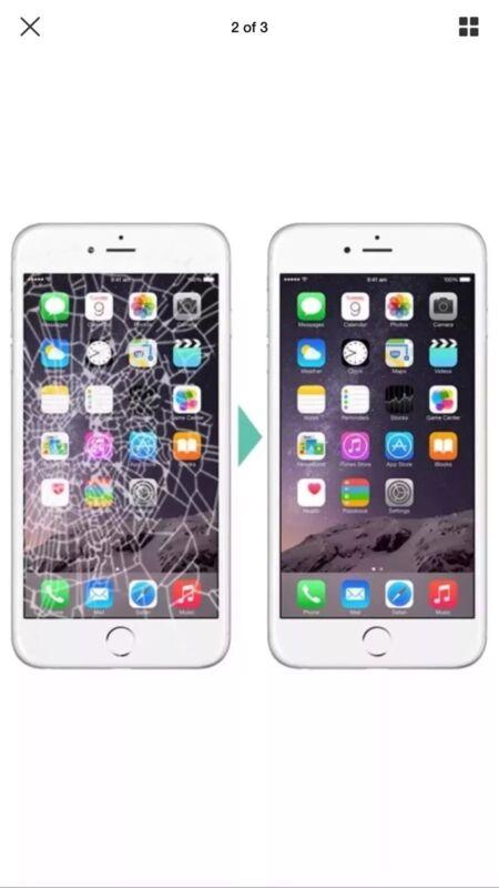 """Apple Iphone 6s Plus Digitizer Cracked Broken """"complete Lcd Replacement Service"""""""