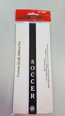 Laserline custom Soccer Hair Ribbon Set New In Package