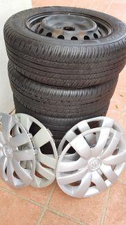 4 x Toyota Yaris wheels , rims & tires