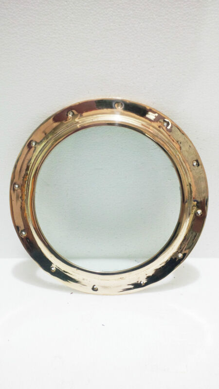 "Porthole Ship Boat Brass Porthole Window With Glass 10.75"" Inch/Wt-1.600kg"