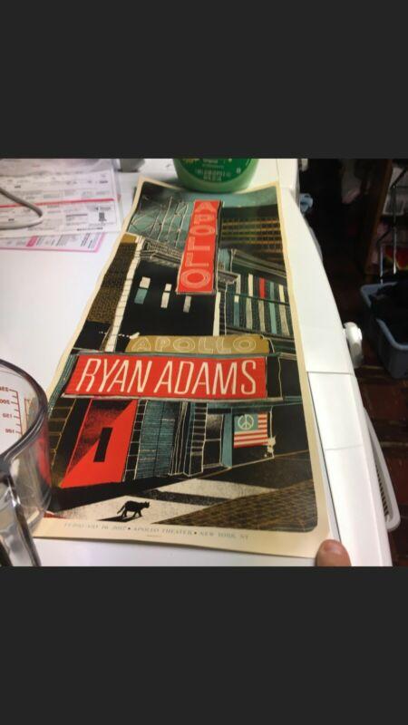 Ryan Adams (Heartbreaker) Poster Apollo Theater/Theatre 2/16/2017 New York NYC