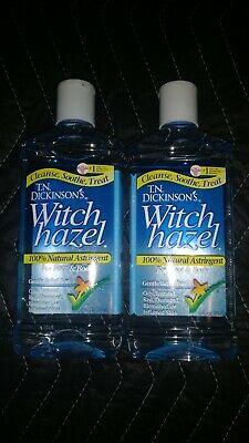 Two-16 oz bottles T.N. Dickinson's 662828 Witch Hazel Natural Astringent  Dickinsons Witch Hazel Astringent