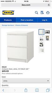 MALM 2-drawer chest, white