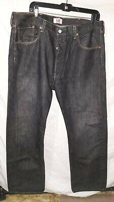 Men's Levis 501 Jeans 38X30 Button Up 100% Cotton Black