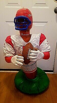 Budweiser Inflatable Football Player Beer Bottle Anheuser-Busch 36