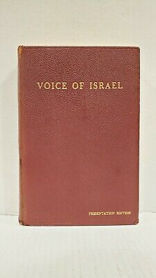 1957 Abba Eban Presentation Edition SIGNED AUTOGRAPH Hardcover Voice of Israel
