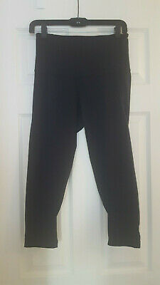 Zella by Norstrom size Small Black Crop Athletic Pant with wide waistband