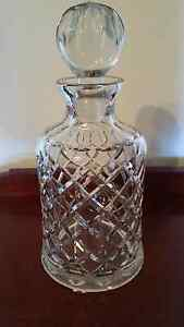 Bohemia Lead Crystal Whiskey Decanter and Tumblers Athelstone Campbelltown Area Preview