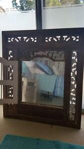 Balinese Hand Carved Prison Mirror