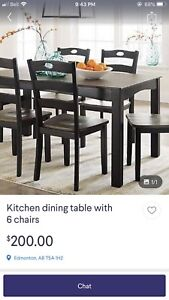 **SCAM** Kitchen Table w/ 6 Chairs **SCAM**