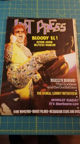 Ireland Hot Press Magazine 1985 Elton John feature vintage