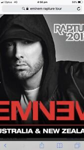 EMINEM Rapture Melbourne concert tickets x 2
