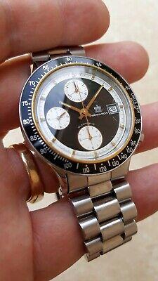 "Vintage Hamilton Chronograph 9988, Val. 7750, ""Panda Dial""!!! Original Bracelet."