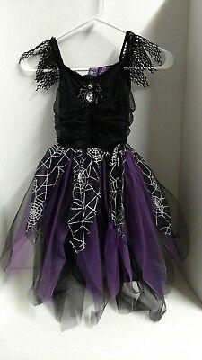 Halloween  Spider Dress with Web Costume Purple Black Tulle 6x COSTUME NEW - Halloween Costumes With Purple