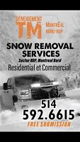 Service de deneigement residential/commercial, Montreal Nord,RDP