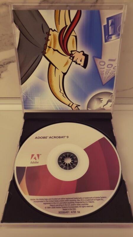 Adobe Acrobat 9 Standard For Windows (CD & Serial Key - Tested Works)