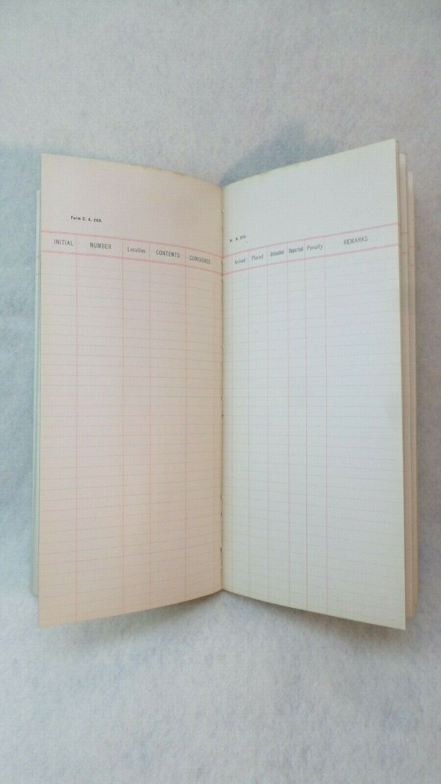 Railroad Yard Check Book - West Shore RR - New York Central
