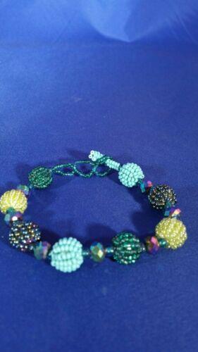 Huichol Chaquira Balls Bracelet Unique Multi-Color
