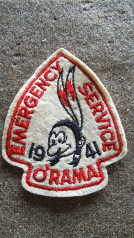 Stanford Area Council 1941 Emergency Service O