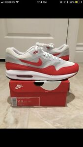 """Air Max 1 """"OG Red"""" size 11.5 DS"""