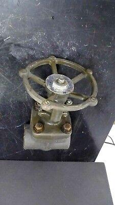 Hattersley Fig. No. C1144-200 2 A105 Carbon Steel Socket Weld Gate Valve